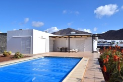 Modern villa in Las Colorados with sea views and private heated pool